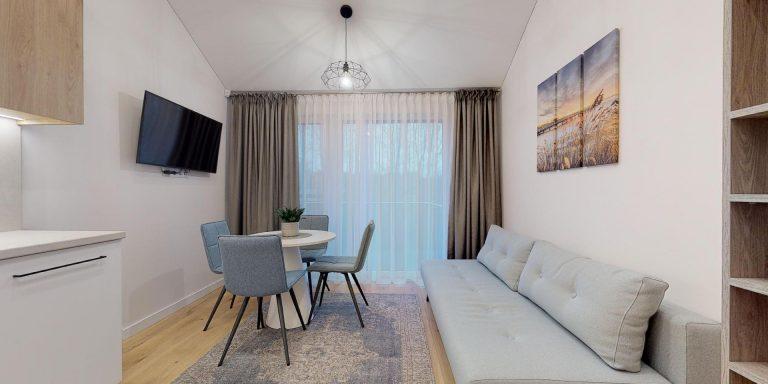 Vieno miegamojo apartamentai su balkonu